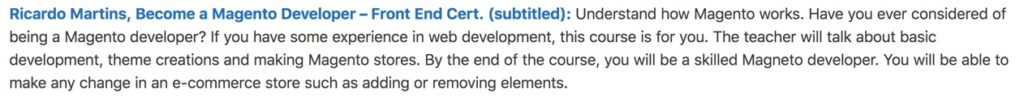 Descrição na Online Courses Review